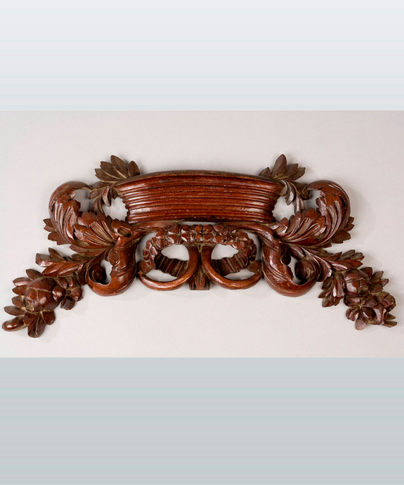 A Regency period carved mahogany applique. Large Image 1