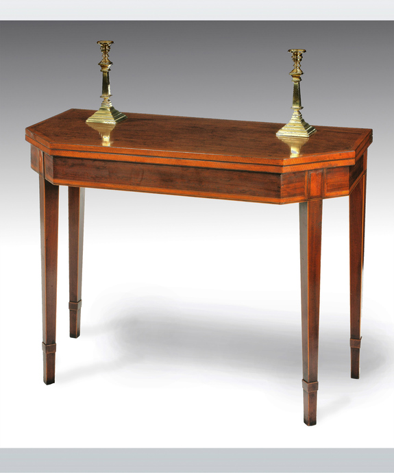An antique Sheraton card table.