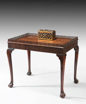 A fine Chippendale period mahogany silver table.