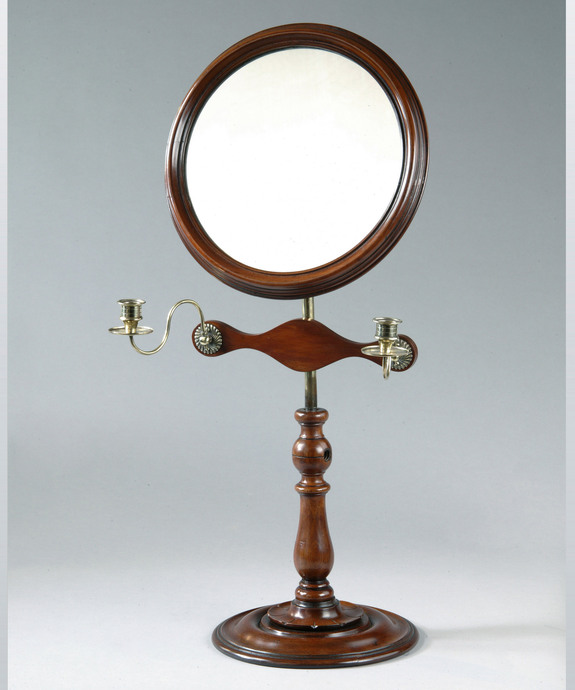 A William IV period mahogany shaving mirror. Large Image 1