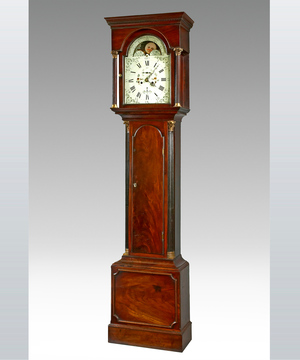 A fine late 18th Century mahogany longcase by Ralph Hills, Sunderland.