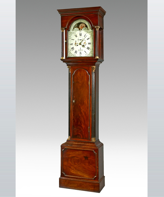 A fine late 18th Century mahogany longcase by Ralph Hills, Sunderland. Large Image 1
