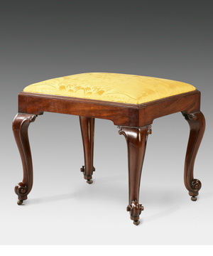 A Chippendale mahogany stool.