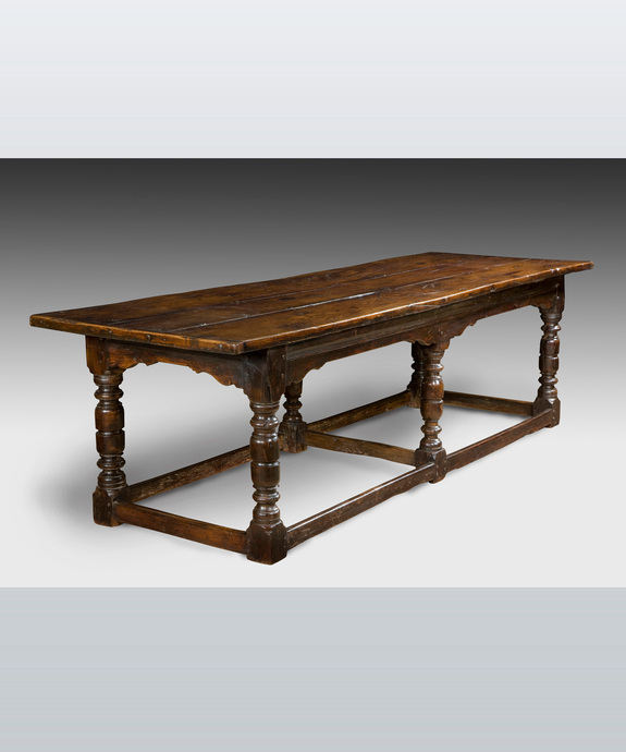 A good 17th Century oak refectory table. Large Image 1