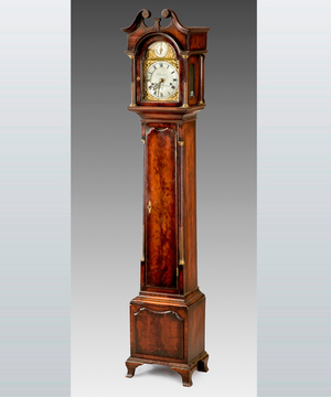 A fine late 19th Century miniature longcase clock retailed by Clerke, Royal Exchange.