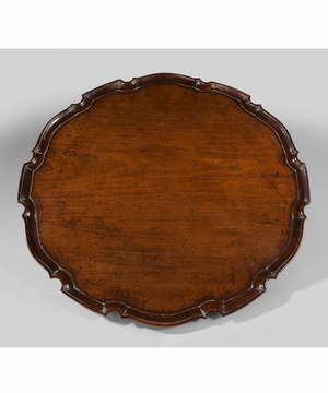 A good Chippendale period mahogany piecrust tray.