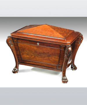 Regency mahogany wine cooler cellarette.
