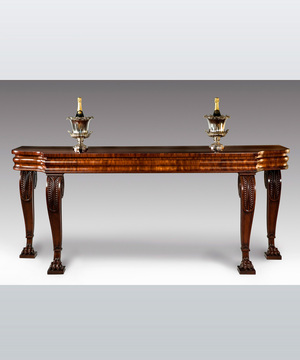 A Regency serving table in mahogany.