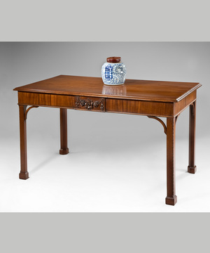 Chippendale mahogany console table.