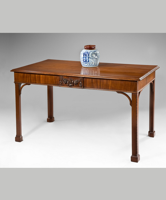Antique Chippendale mahogany console table.