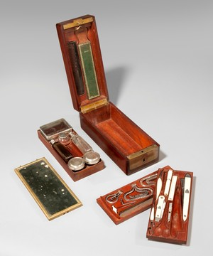 A Napoleonic officer's dressing box.