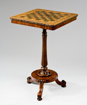 A Regency period rosewood chess table.