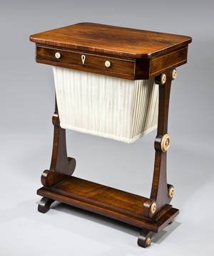 Regency rosewood work table.