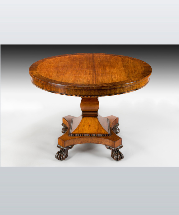 A Regency period rosewood veneered centre table. Large Image 1
