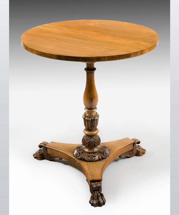 A Regency period rosewood veneered lamp table. Large Image 1