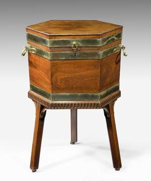 A Chippendale wine cooler.
