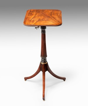 Georgian Sheraton period  rosewood reading table.