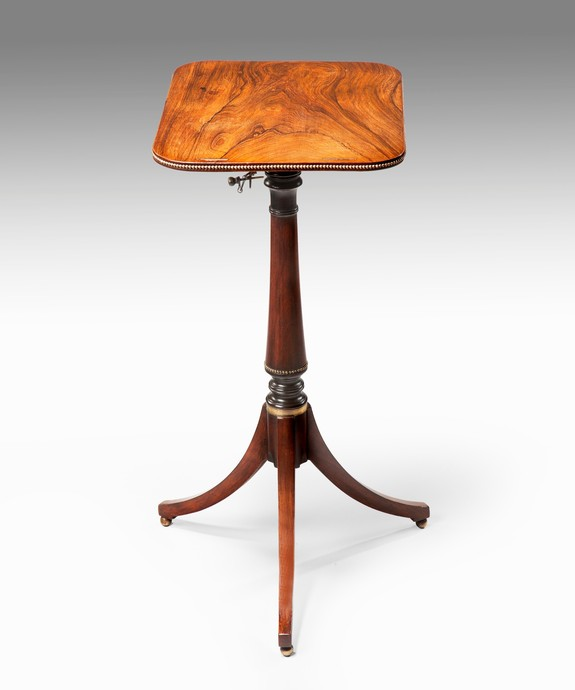 Antique Sheraton rosewood reading table.