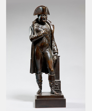 A 19th Century bronze statue of Napoleon.