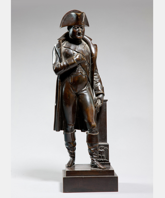A 19th Century bronze statue of Napoleon. Large Image 1