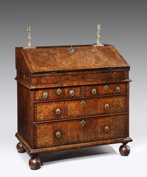 Queen Anne walnut bureau.