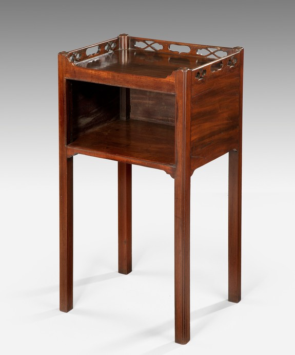 A Chippendale period mahogany pot cupboard. Large Image 1