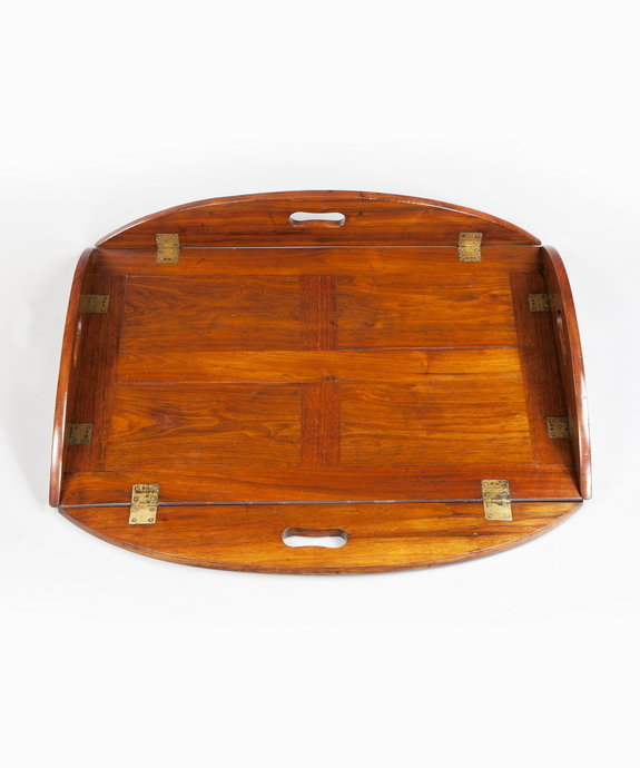 A Regency period mahogany butler's tray. Large Image 1