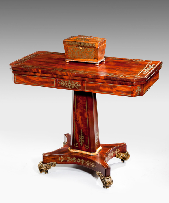 A Regency mahogany card table.