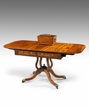 A Regency rosewood sofa table.
