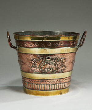 A 19th Century copper and brass jardiniere.