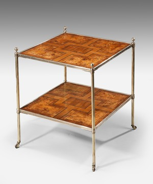 A 19th Century parquetry etagere.