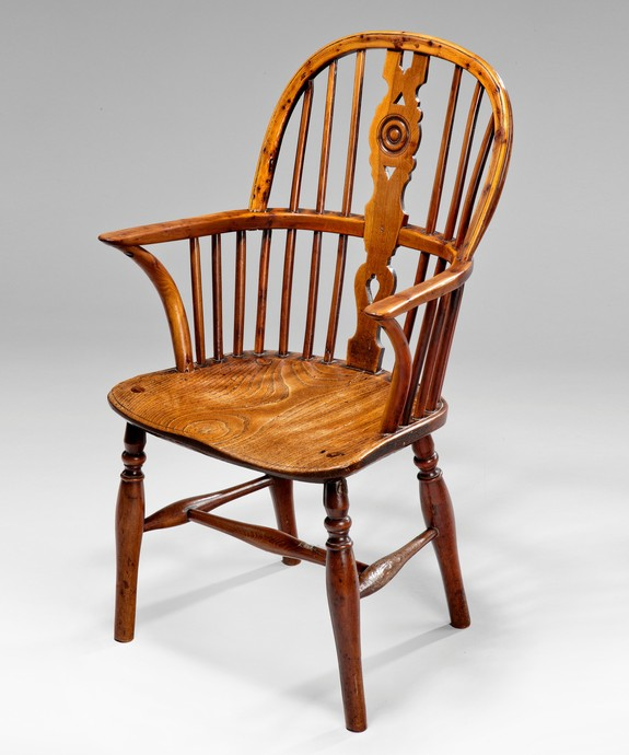 A miniature windsor armchair.
