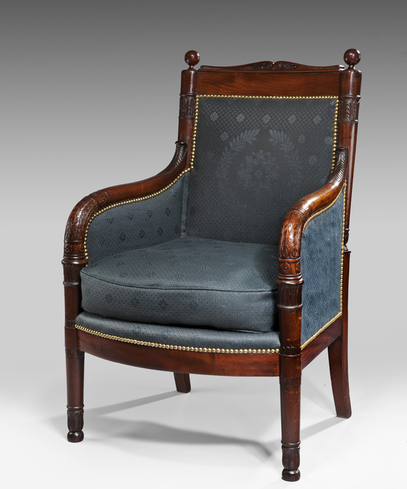 A fine early 19th Century Directoire period mahogany armchair. Large Image 1