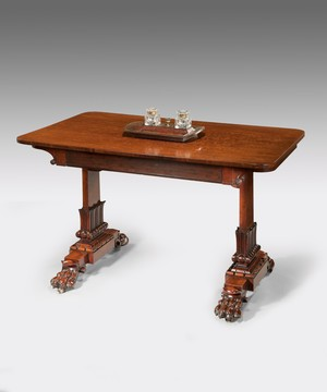 Regency mahogany writing table.