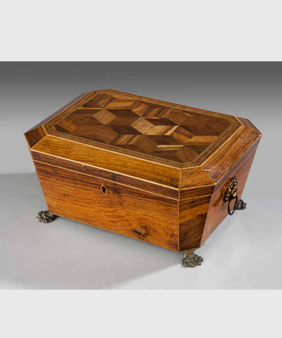A fine Regency period rosewood veneered jewellery casket.