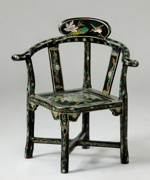A rare Regency period japanned child's chair.