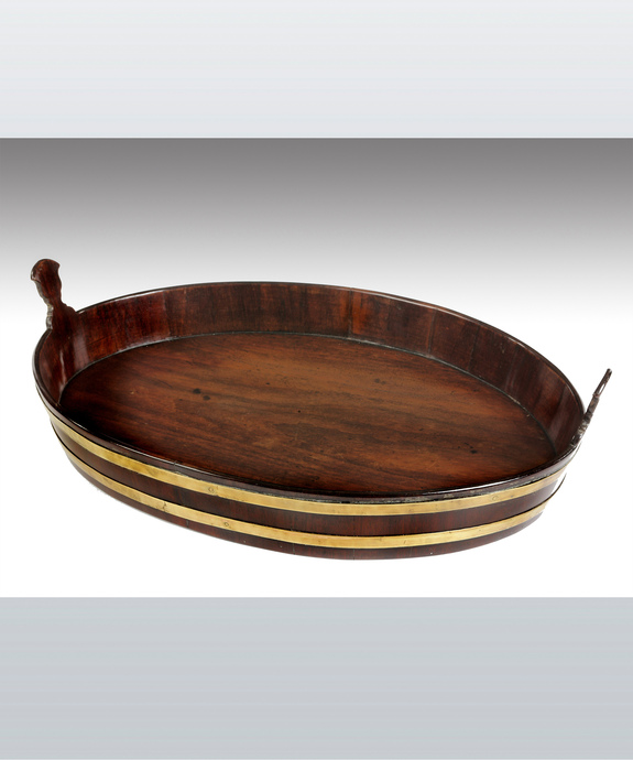 An antique Georgian mahogany tray