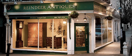 Our antique dealer shop front window