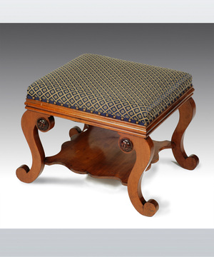 A Regency mahogany stool.