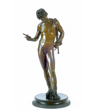 A well modelled late 19th Century bronze figure of Narcissus.