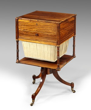 A Regency work table.