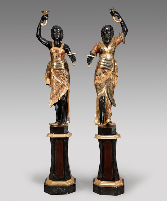 A pair of Venetian blackamoors. Large Image 1