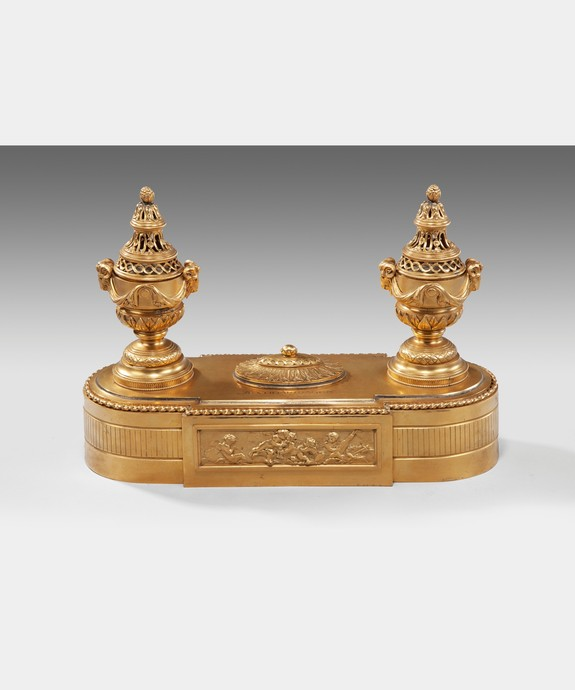 Antique ormolu desk set.