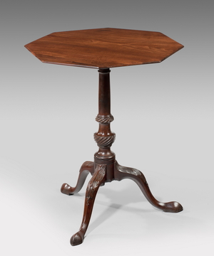 A Chippendale period tripod table.