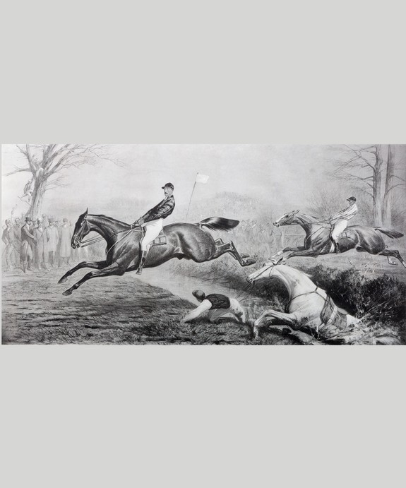 Antique racing print