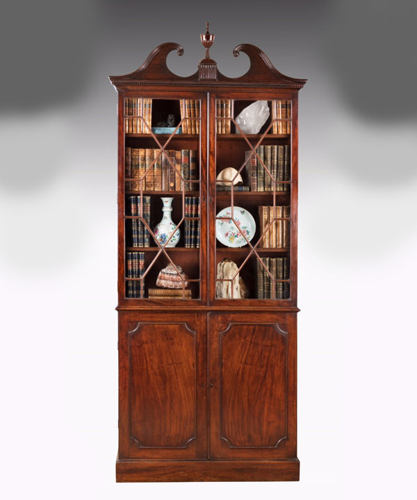 Chippendale period bookcase