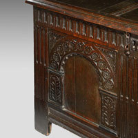 Antique oak coffer from the Carolean period