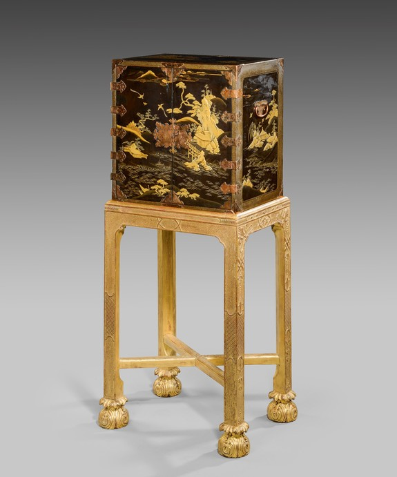 Antique Japanese lacquer cabinet.