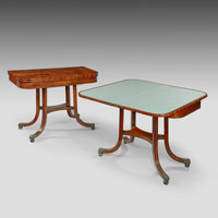 antique pair rosewood tables
