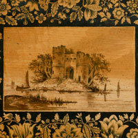 Antique castle picture.